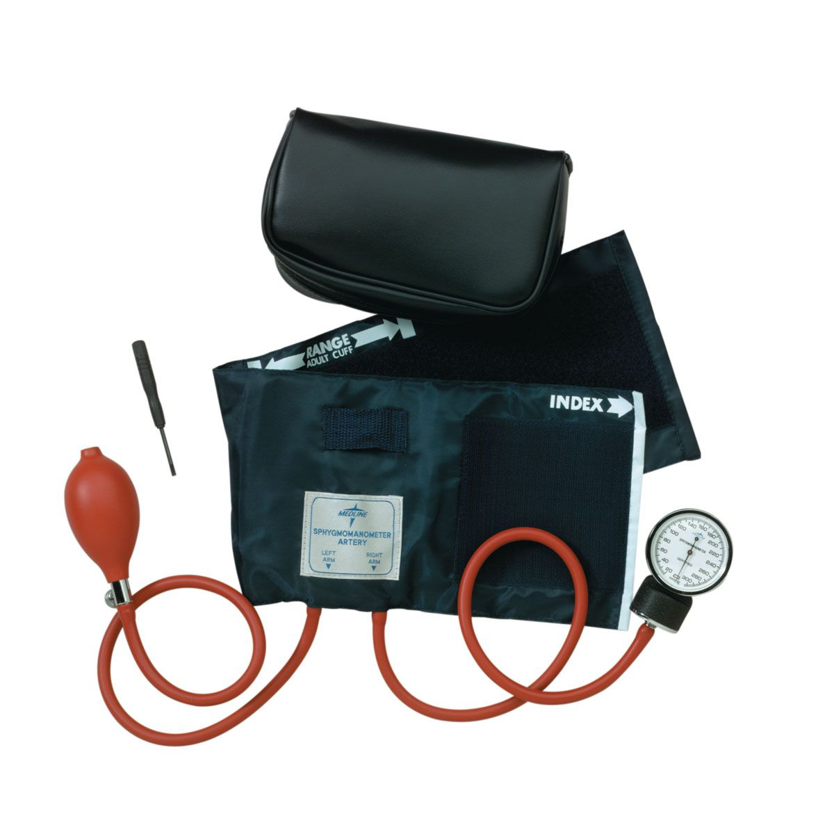 Medline Neoprene Handheld Aneroid Sphygmomanometer - Hand Held, Adult, Each - Model MDS9380LF