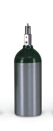 Luxfer Gas Cylinders Lightweight Aluminum Cylinder - Qxygen, C Size w/ O Tog(M009032), M9 ('C), Each