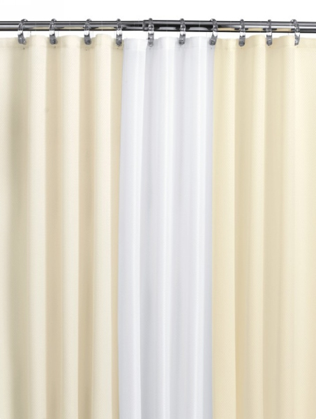 Medline Misty Morning Shower Curtain Collection - 68X72, No Mesh, Cafe, Each - Model MMQ68X72CAF