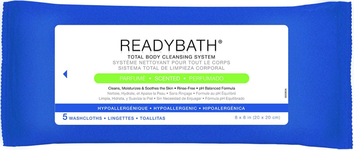 ReadyBath Total Body Cleansing Standard Weight Washcloth - Scented, Box of 30 - Model MSC095306