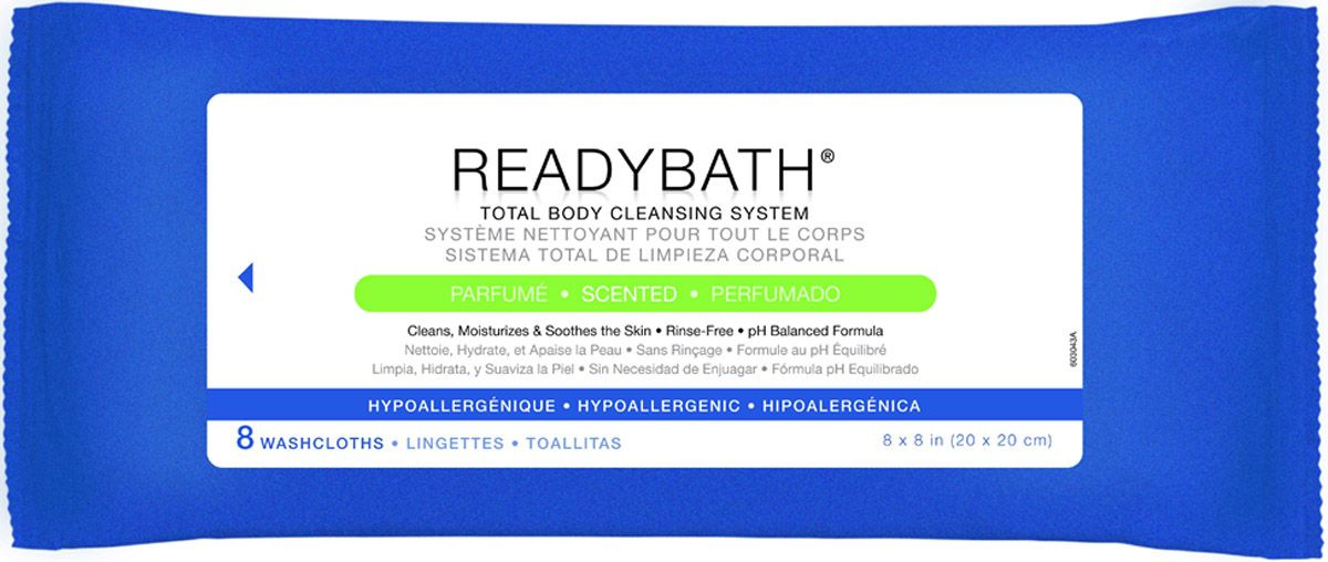 ReadyBath Total Body Cleansing Standard Weight Washcloth - Scented, Box of 30 - Model MSC095304