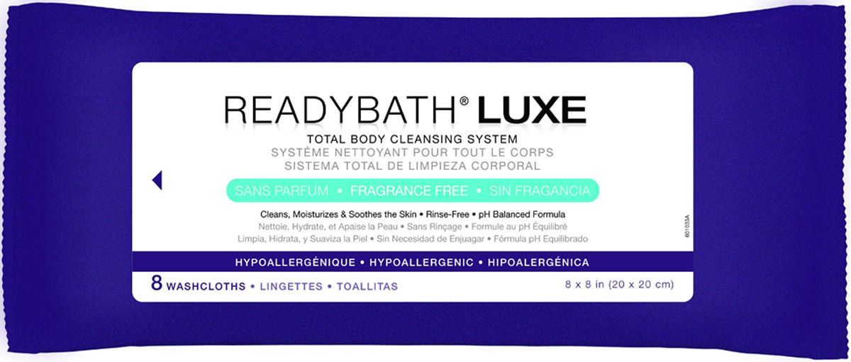 ReadyBath LUXE Total Body Cleansing Heavyweight Washcloth - Frag Free, Box of 24 - Model MSC095103