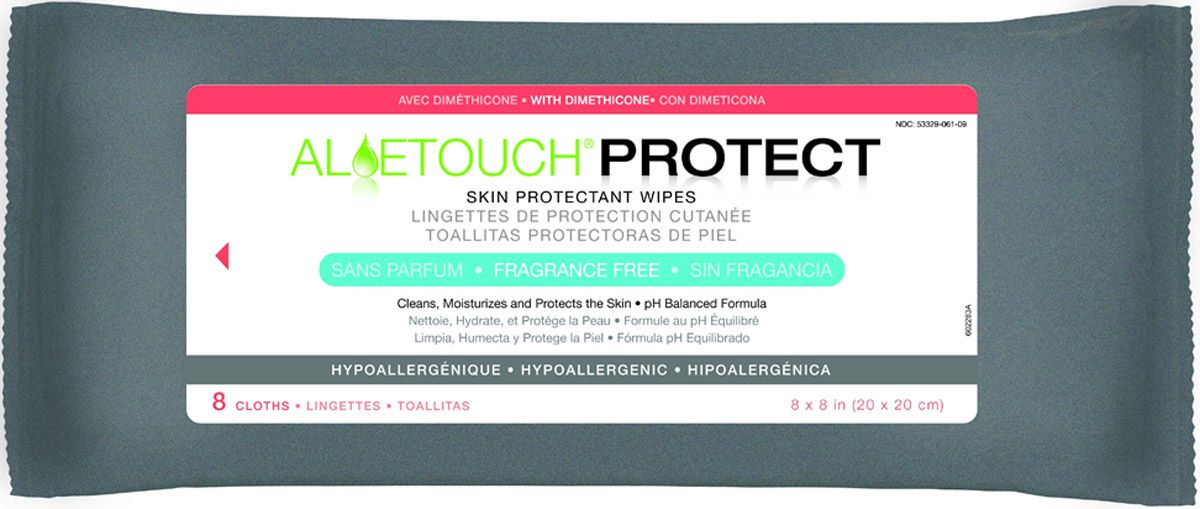Aloetouch PROTECT Dimethicone Skin Protectant Wipe - Cloth, Readybath, Tpc, Box of 30