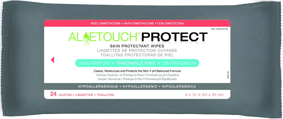 Aloetouch PROTECT Dimethicone Skin Protectant Wipe - Readycleanse, 9X13, Box of 24 - Model MSC095281