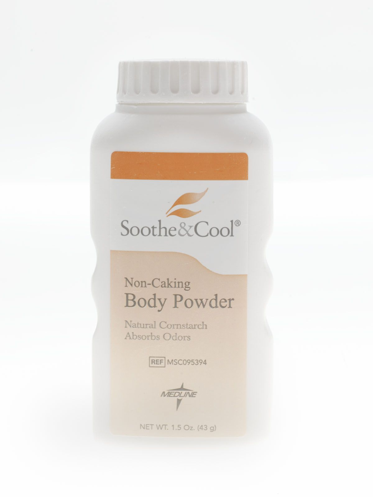 Medline Soothe & Cool Cornstarch Body Powder - Soothe&Cool, 1.5 Oz, Box of 48 - Model MSC095394