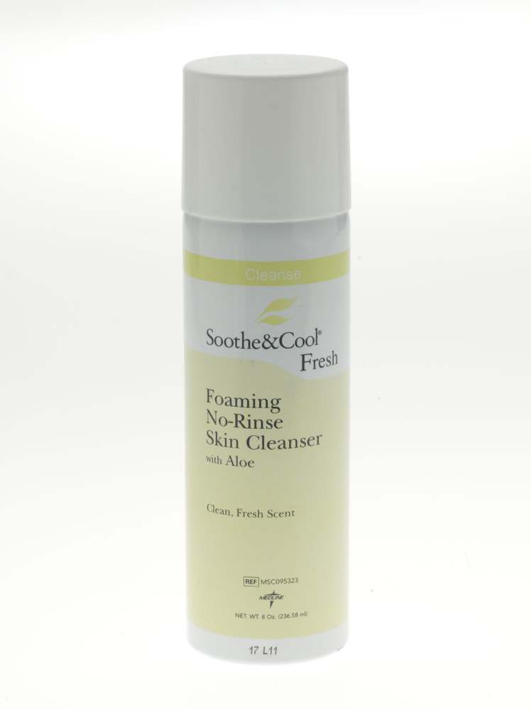 Soothe & Cool Foaming No-Rinse Skin Cleanser - Wash, Perineal, No Rinse, Scented, 8Oz, Box of 24