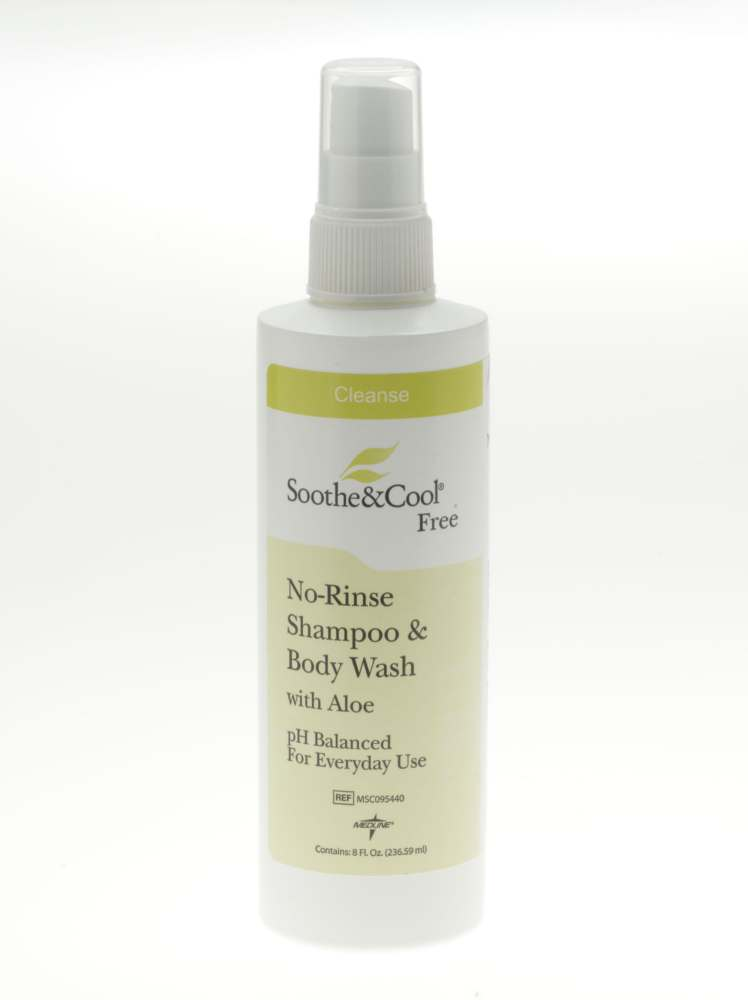 Soothe & Cool No Rinse Shampoo & Body Wash - No-Rinse, Spr, S&C, 8Oz, Box of 12 - Model MSC095440
