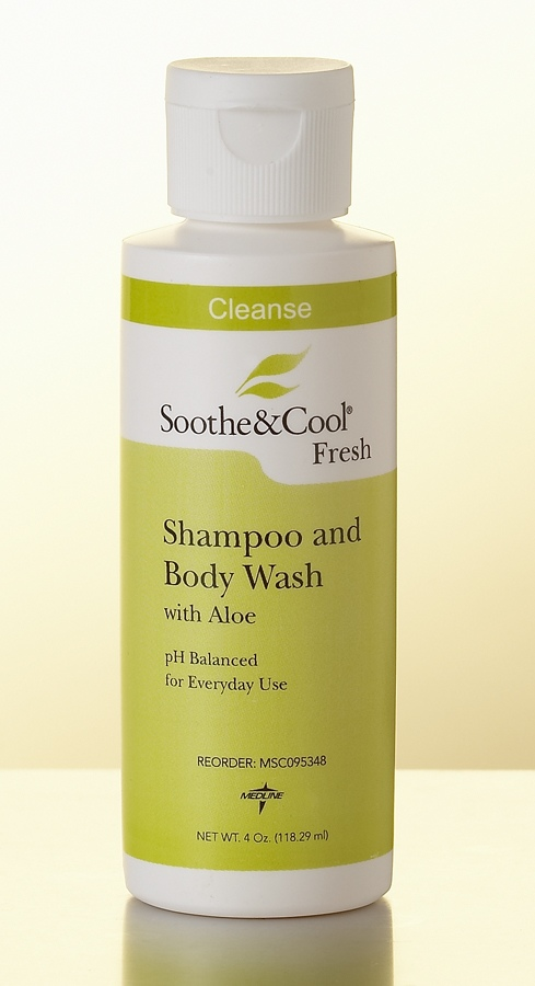 Medline Soothe & Cool Shampoo & Body Wash - Soothe& Cool, 16 Oz, Box of 12 - Model MSC095340