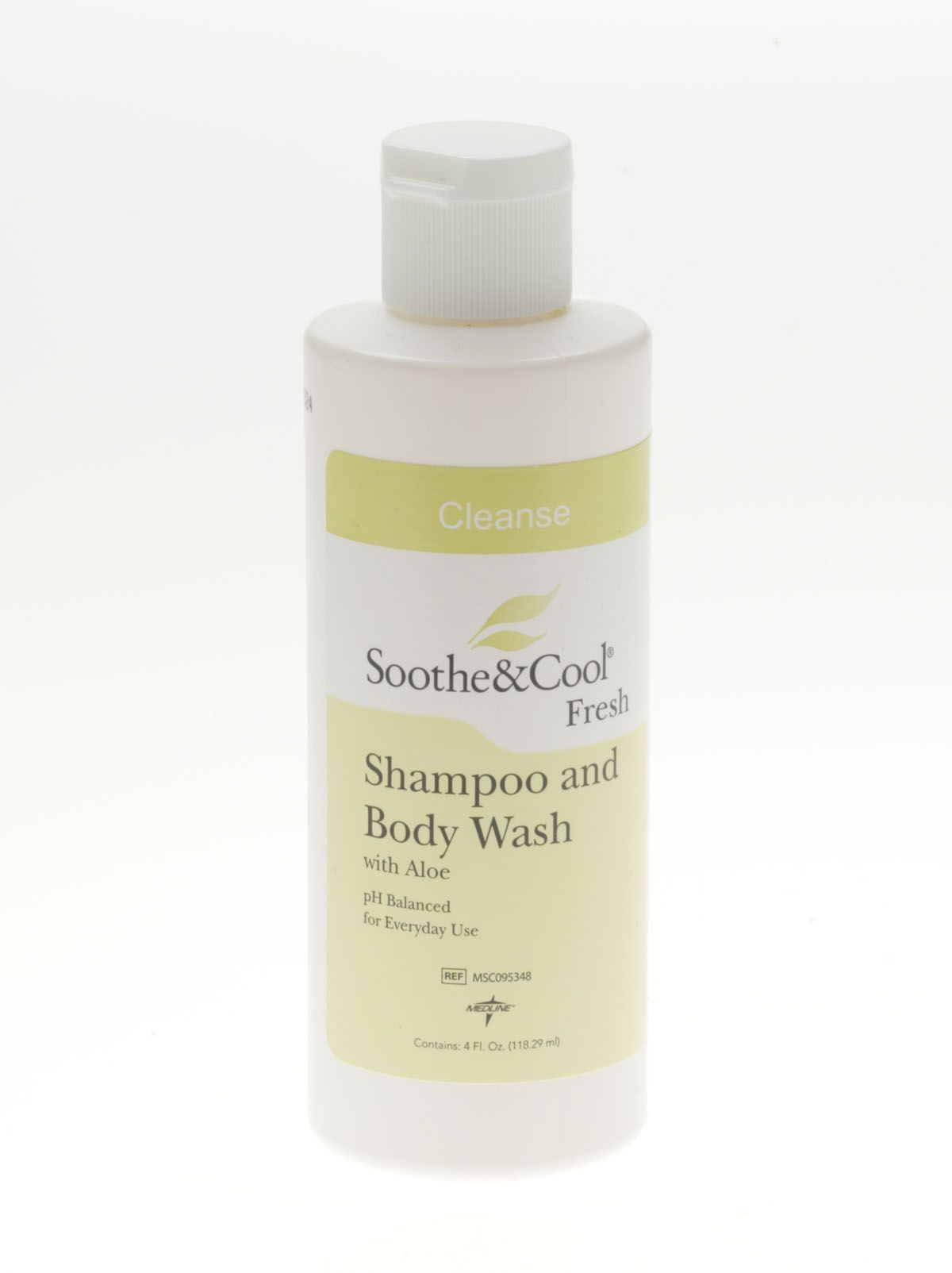 Medline Soothe & Cool Shampoo & Body Wash - 4 Oz, Box of 48 - Model MSC095348