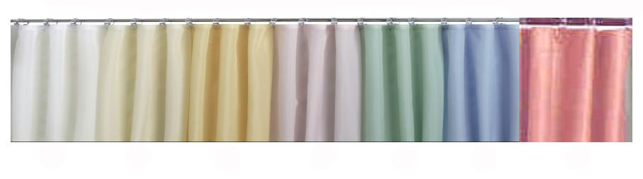 Medline Spray Shower Curtain Collection - 100% Nylon, 72X72, White, Each - Model SPQ72X72WHI