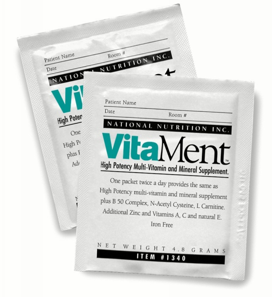 National Nutrition VitaMent High Potency Vitamin Powder - 60 X4.55G, Box of 60 - Model 11340