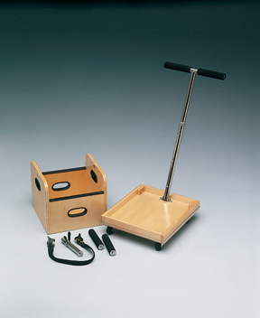 Mobile Weighted Cart With T-Handle And Accessory Box