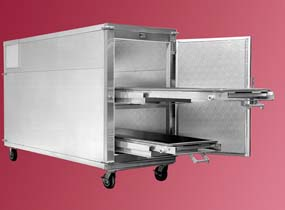 Mortech Mobile Mortuary Refrigerator, Model 1036-R101, Each