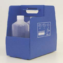 Thermo Scientific Nalgene 4-in-1 EZ Tote Labware Carrier, HDPE, Model 6565-0001, Case of 4