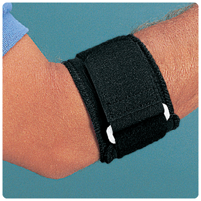 Neoprene Tennis Elbow Band Color: Black, Size: Small, Forearm Circ.: 8