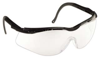 North Safety N-Vision 5600 Series Safety Eyewear - Glasses with Comfort Bridge, Model T56505WBL