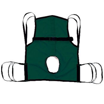 Padded U-Sling One-Piece Commode Sling with Positioning Strap, Medium, 42