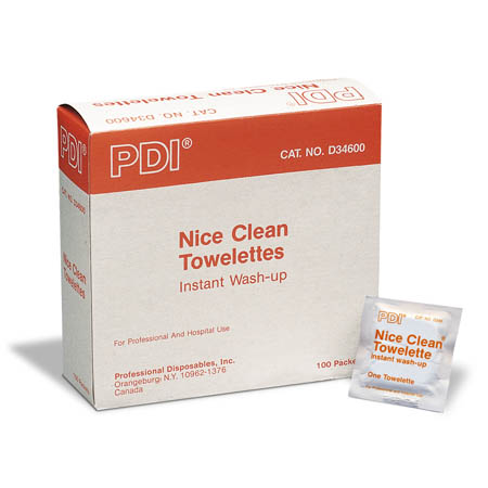 PDI Nice Clean Towelettes - Model D34600, Box of 100