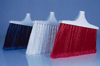 Perfex Angled Upright Brooms - Flagged Fiber Broom Head, Model 2200W, Each