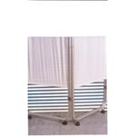 Presco Company Privacy Screens With Casters - 3 Panel - Model 48700-010-C, Each