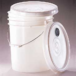 Qorpak Pails and Lids, High-Density Polyethylene - White Pail, Model 7001, Case of 60