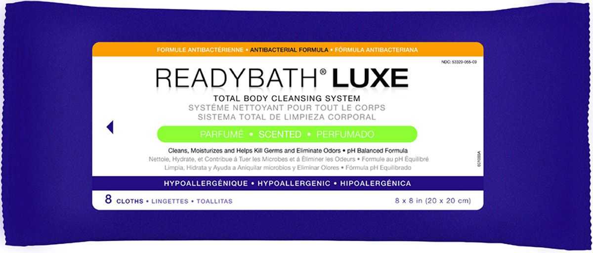 ReadyBath LUXE Total Body Cleansing Heavyweight Washcloth - Ab, Scented, Box of 24 - Model MSC095100
