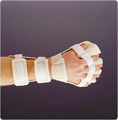 Rolyan Anti-Spasticity Ball Splint with Slot & Loop Strapping. Left, Small - Model A419303