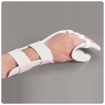 Rolyan Functional Position Splint with Slot & Loop Strapping Left; Size: Large - Model A31217