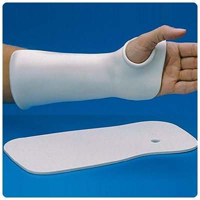 Rolyan Thumb Hole Wrist Cock-Up Splint. Polyform material-solid 1/8