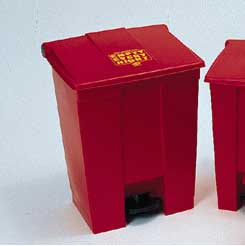 Rubbermaid Step-On Containers, Model RCP 6145 RED, 18 GL