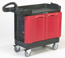 Rubbermaid TradeMaster Mobile Cabinet Carts and Work Centers - Contractor's Cart, Model 453588 BLA