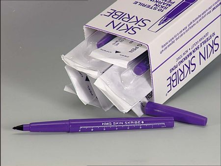 Skin Skribe Surgical Skin Marker - Twin-Tipped, Box of 10