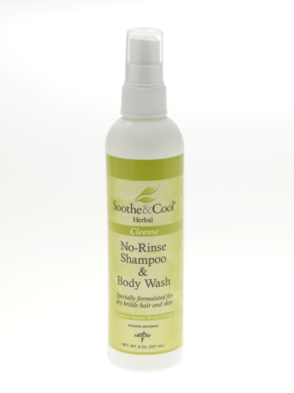 Soothe & Cool Herbal Shampoo & Body Wash - S&C Herbal, N/R, 8 Oz., Box of 12 - Model MSC096440