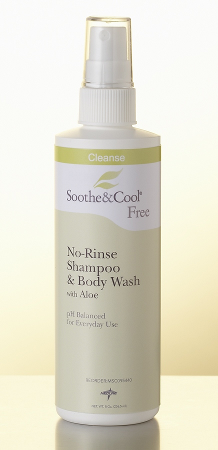 Soothe & Cool No Rinse Shampoo & Body Wash - S&C, Gallon, 3790 ml, Box of 4 - Model MSC095442