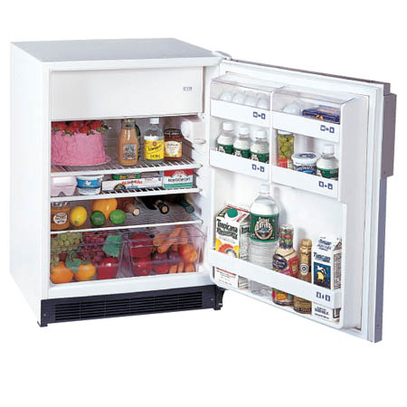 Summit Appliance Refrigerator with Freezer With Lock, White - Model CT-66L, Each