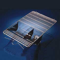 Tecniplast Stainless Steel Wire Cage Lids - Inner Fitting Lid with Hinged Divider