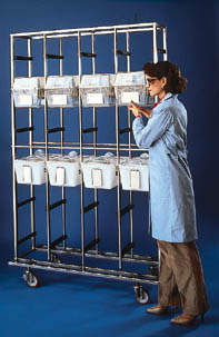 Tecniplast Cage Racks - Suspension-Style Cage Rack, Model 2P15B1000-01, 1 Case