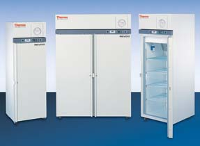 Thermo Scientific Revco Blood Bank Upright Auto Defrost -30 degrees C Freezers - Space Saver Freezer