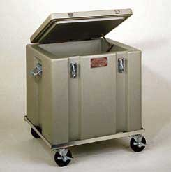 ThermoSafe Dry Ice Storage and Transport Chests - Aluminum Dolly with 4