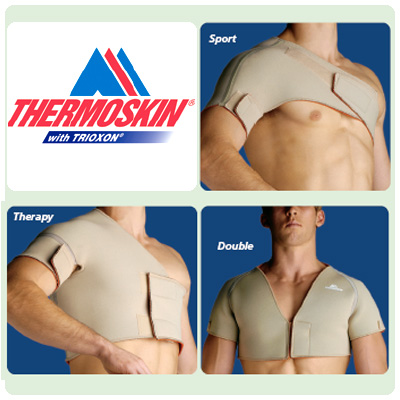 Thermoskin Shoulder Supports - Single Sports, Black, S, Chest Circ: 35-1/4