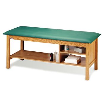 Treatment Table with Multiple Shelves Grotto Green - Model 9266056