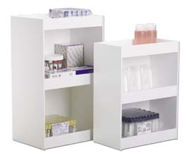 TrippNT Straight-Sided Shelves - Three-Shelf Unit, Model 50378, 12 IN