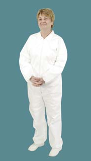 VWR Critical Cover Microbreathe Coveralls With Elastic Cuffs, Ankles, and Back, Large