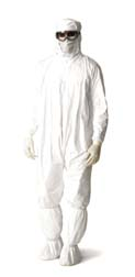 VWR Hooded Coveralls made with DuPont Tyvek IsoClean Material, Large, Model 89012-814, Case of 25