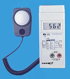 VWR Light Meter with Outputs, Model 62344-944, Each