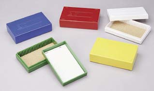VWR Microscope Slide Boxes, 25-Place, Model 82003-420, Each