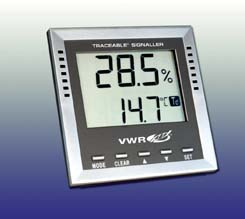 VWR Traceable Hygrometer/Thermometer, Model 36934-164, Each