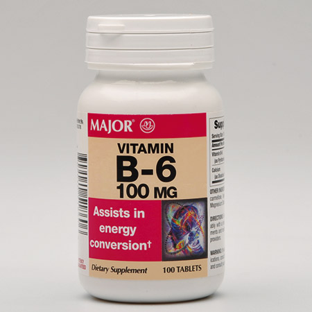 Vitamin B6 Tablets, 100mg, Btl of 100