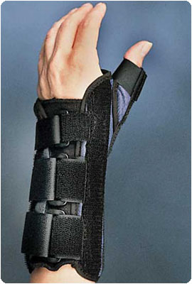Wrist Brace with Thumb Spica, Left Size: M - Model 78600203