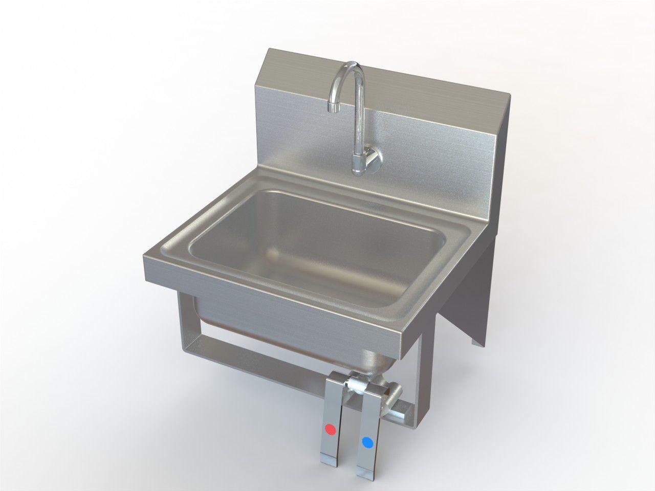 Aero Manufacturing Hand Sink - Faucet, Knee Valve, Ss, Each - Model HSK